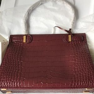 Tory Burch Bags - NWT Tory Burch lee radziwill  satchel in claret